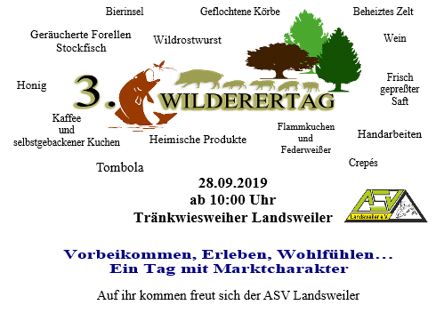 3. Wilderertag Handflyer